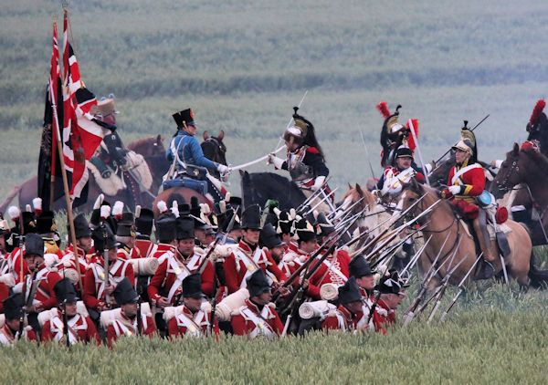 Re-enactment Battle of Waterloo 200th anniversary