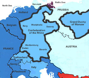Confederation of the Rhine Map