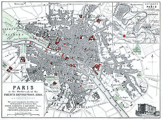 Map Of Paris 1789 Alison S History Of Europe Map