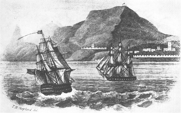 Napoleon arrives at St Helena